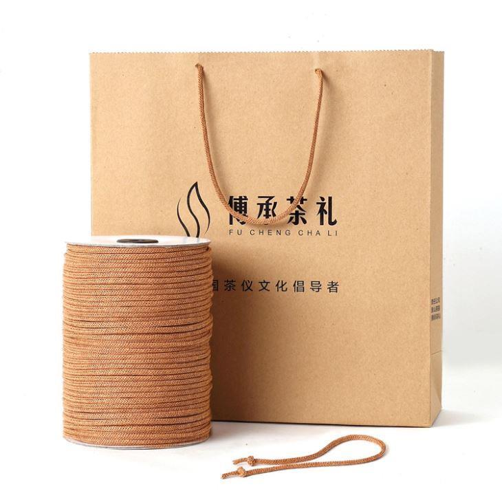 High - quality needle through paper rope handbag bag rope rope rope tied textile accessories