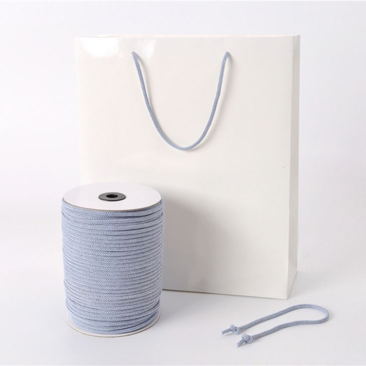 Manufacturers of new direct sales of goods needle through the paper rope tied to tie the ribbon environmental protection rope rope rope handbag processing custom