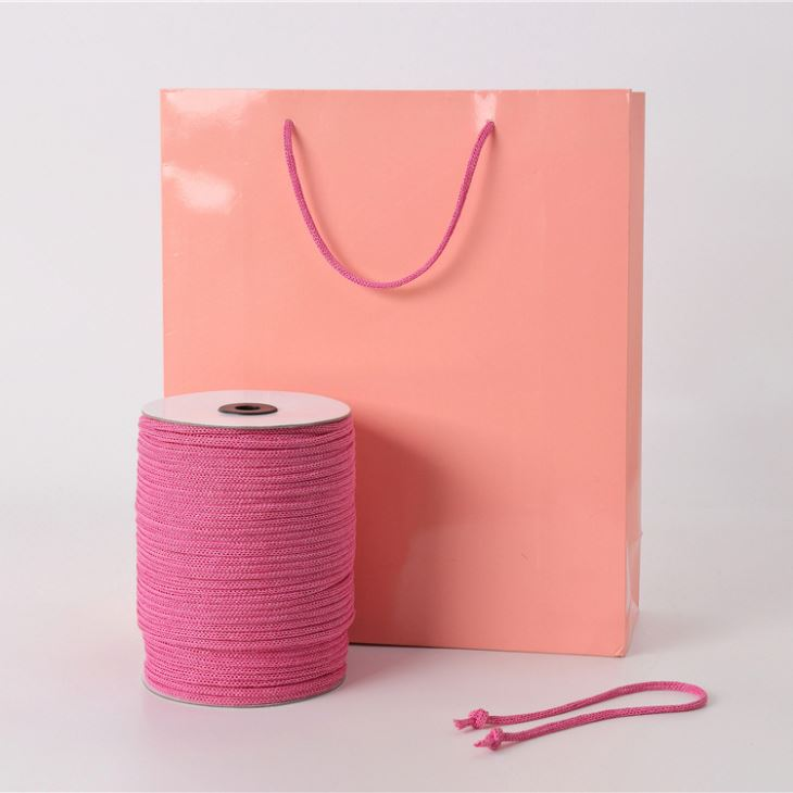 Manufacturers of the scene of environmentally friendly paper rope tag rope toys needle through the paper rope tied tie high-quality handbag bag spinning DIYY056